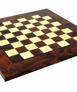 Schachbrett aus Wurzelholz Nussbaum