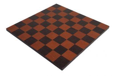 Schachbrett aus echtem Leder Dunkelbraun