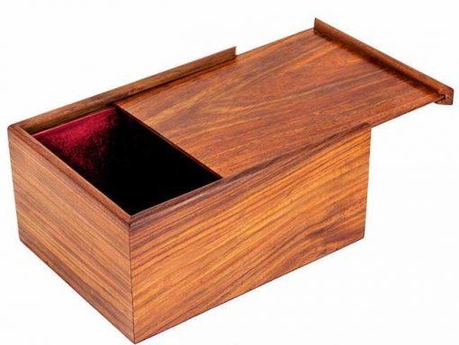 Aufbewahrungsbox aus Rosenholz für Schachfiguren aus Holz (Königshöhe = 11 cm)