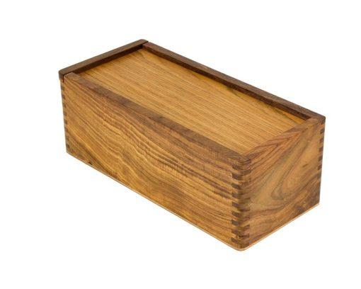 Aufbewahrungsbox aus Rosenholz für Schachfiguren aus Holz (Königshöhe = 7 bis 10 cm)