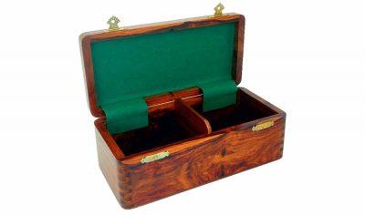 Aufbewahrungsbox aus Rosenholz für Schachfiguren aus Holz (Königshöhe = 7 cm)