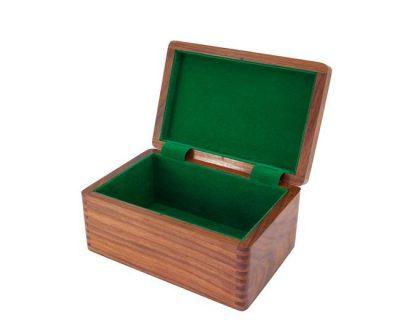 Aufbewahrungsbox aus Rosenholz für Schachfiguren aus Holz (Königshöhe = 9
