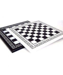 Schachbrett aus Holz Griechischer Stil Schwarz oder Weiß