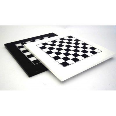 Schachbrett aus Holz Schwarz oder Weiß Lackiert