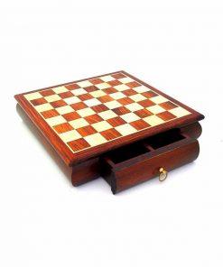 Schachbrett aus Rosenholz mit Schublade