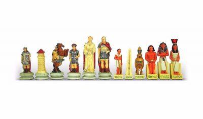 "Schachset aus Kunstharz ""Römer gegen Ägypter"