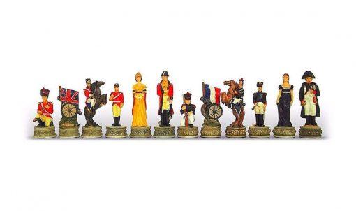 """Schachset aus Kunstharz """"Schlacht von Waterloo"""